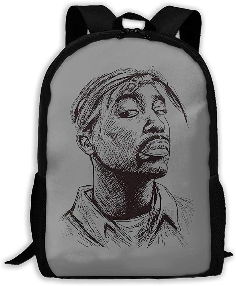 Sac dordinateur Portable School Backpack Lightweight Tupac Shakur 2Pac California Printed School Backpack Water Resistant Travel Rucksack Bag Laptop Backpack Daypack