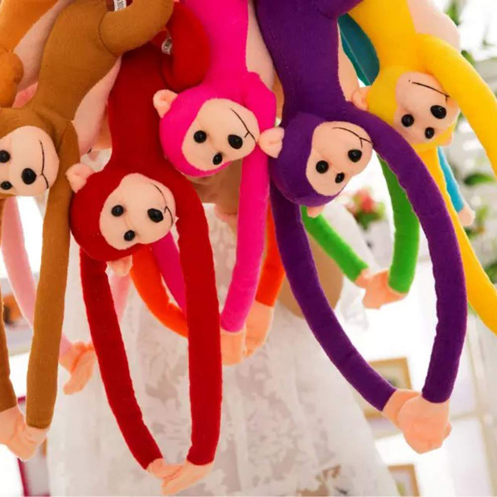 Blue Fingertoys 2 Pack Cute Kid Monkey Plush Toy Curtain Holder Tieback Hook for Bedroom Living Room