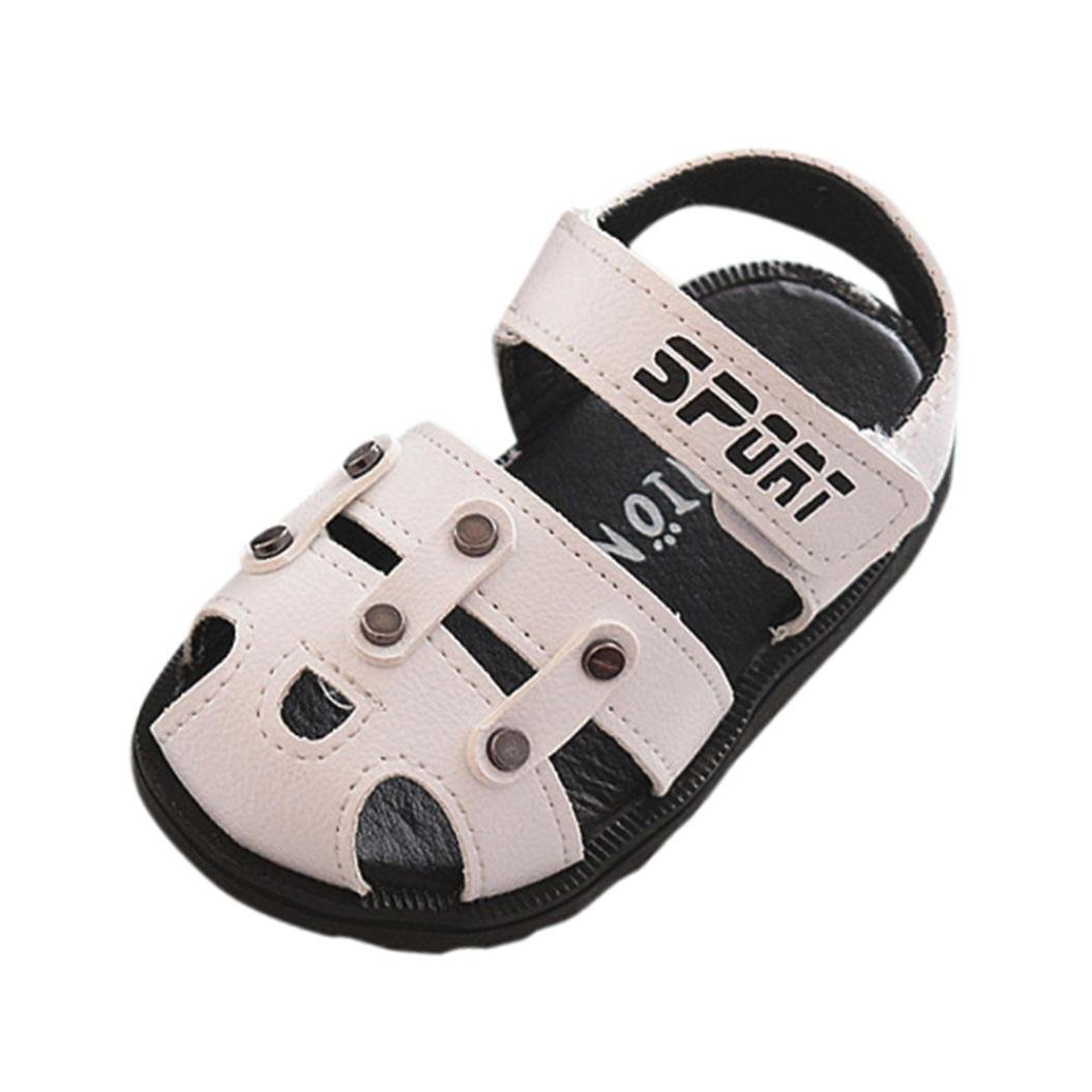 Alluing Toddler Baby Boys Hollow Anti-Slip Shoes Soft Sole Beach Single Letter Sneaker