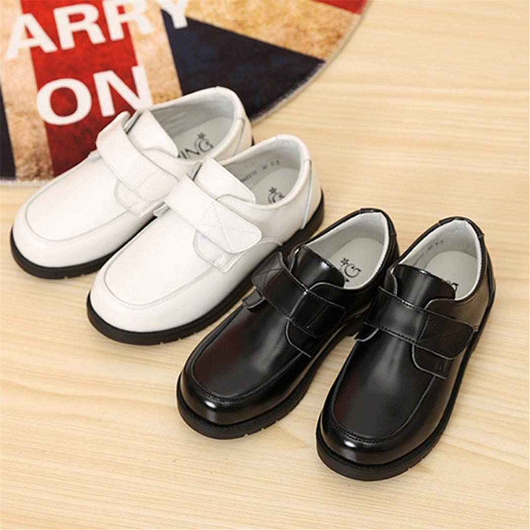 Flyingdogs Leather Shoes Kids Wedding Party Graduation Leather Shoes Children Sneakers Black 2.5M US