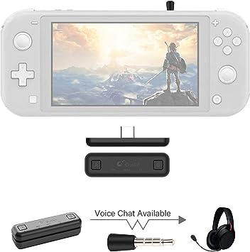 Sutefoto Bluetooth Adaptador Compatible para Nintendo Switch & Lite, PS4/PC, Soporte de Chat de voz en el juego con Transmisor Inalámbrico APTX de baja Latencia para Altavoces Inalámbricos Auriculares: Amazon.es: Electrónica