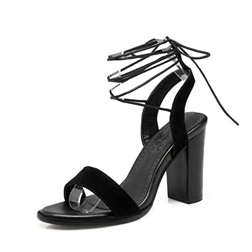 Chaussures Chaussures femme Sandales Hauts Bout Femme Sandales Sangles De Cheville Talons Hauts Bout Ouvert Été