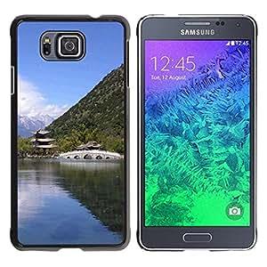 Be Good Phone Accessory // Dura Cáscara cubierta Protectora Caso Carcasa Funda de Protección para Samsung GALAXY ALPHA G850 // Nature Asian Temple