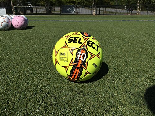Select Numero 10 Soccer Ball with Duffle Ball Bag and Soccer Ball Hand Pump(Pack of 4), Yellow, Size 5 by Select (Image #6)