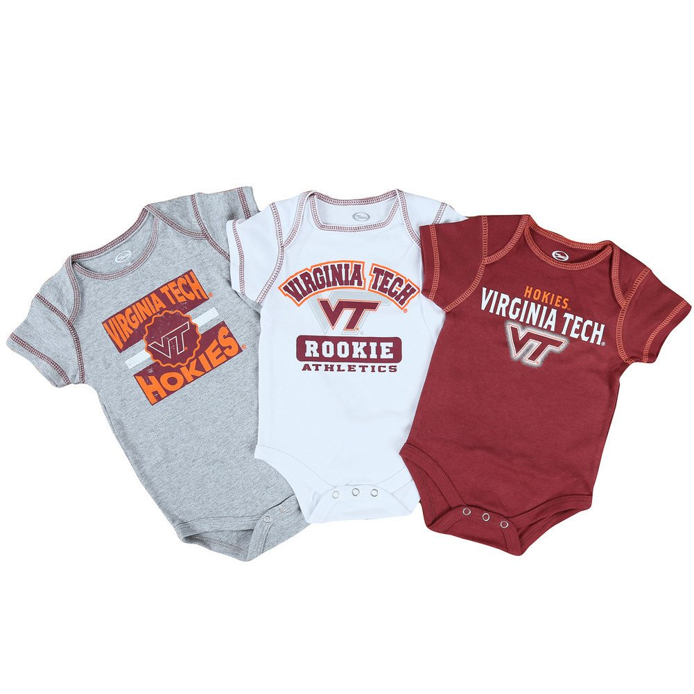 Amazon.com: Virginia Tech Hokies bebé ropa 3 Pack: Sports ...