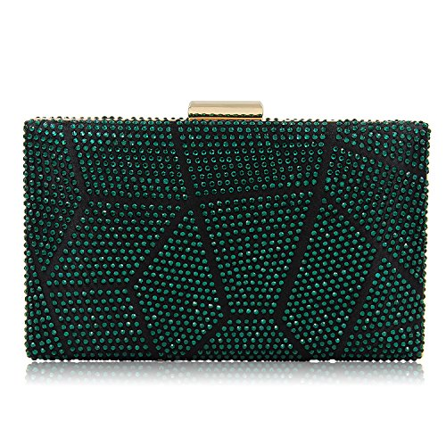 Buy emerald green evening bag