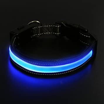Dog Collar Led Laixin Waterproof Premium Illuminated Dog Collar With Usb And Solar Rechargeable Reflective Adjustable Ultra Bright Dog Collars For