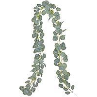 YQing Kunstmatige slinger voor op kantoor, keuken, tuin, wanddecoratie Eucalyptus Künstlich