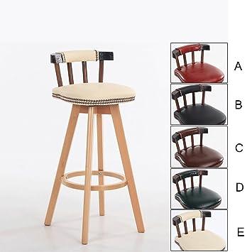 Chaise Haute Pivotante De Style Retro Chaises Longues Barre Tabourets