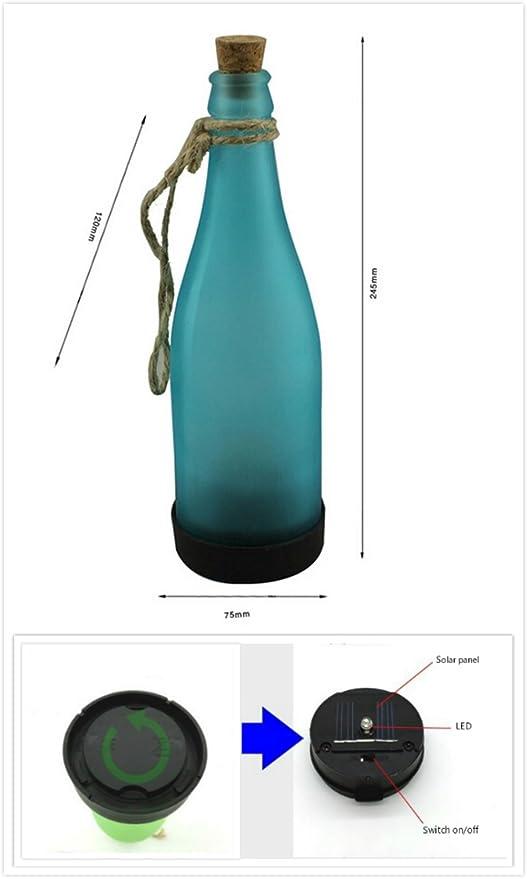 irealist funciona con energía solar lámpara de botella LED luces para colgar para botella de vino, al aire libre, fiesta jardín Patio Patio Camino ...