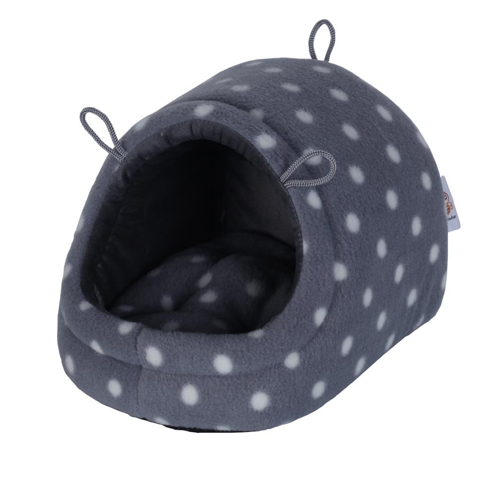 Nunubee Pet Dog Bed Animal Beds Kennel Pet Nest Cat Small Animal Waterloo Igloo Polka Dot L-17.6x16x10 Inch