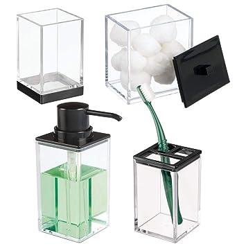 Amazon.com: MDesign - Juego de accesorios de plástico para ...