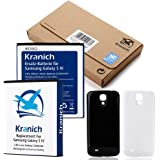Kranich 5200mAh Extra Großer BIG Akku NFC Samsung Galaxy S4 + Cover schwarz