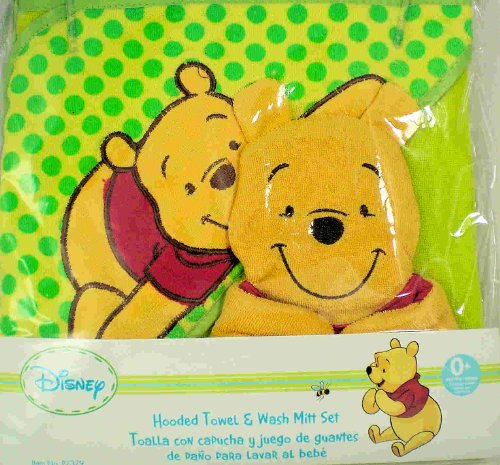 Amazon.com: Disney Baby Winnie the Pooh Hooded Towel & Wash Mitt set: Baby