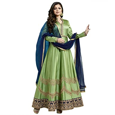 2f8fde17fc Touch Trends Green Designer Party wear Salwar Suit | Wedding Salwar |  Classic Anarkali Cording Work With Crystal | Classy Look at Affordable  Price.