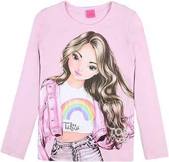 Top Model Niña T-Shirt, Manga Larga, Rosa