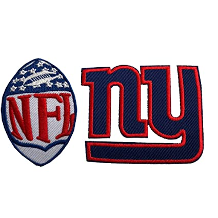 premium selection fb164 33702 Hipatch New York Giants Embroidered Patch Iron on Logo Vest Jacket Cap  Hoodie Backpack Patch Iron On/sew on Patch Set of 2Pcs