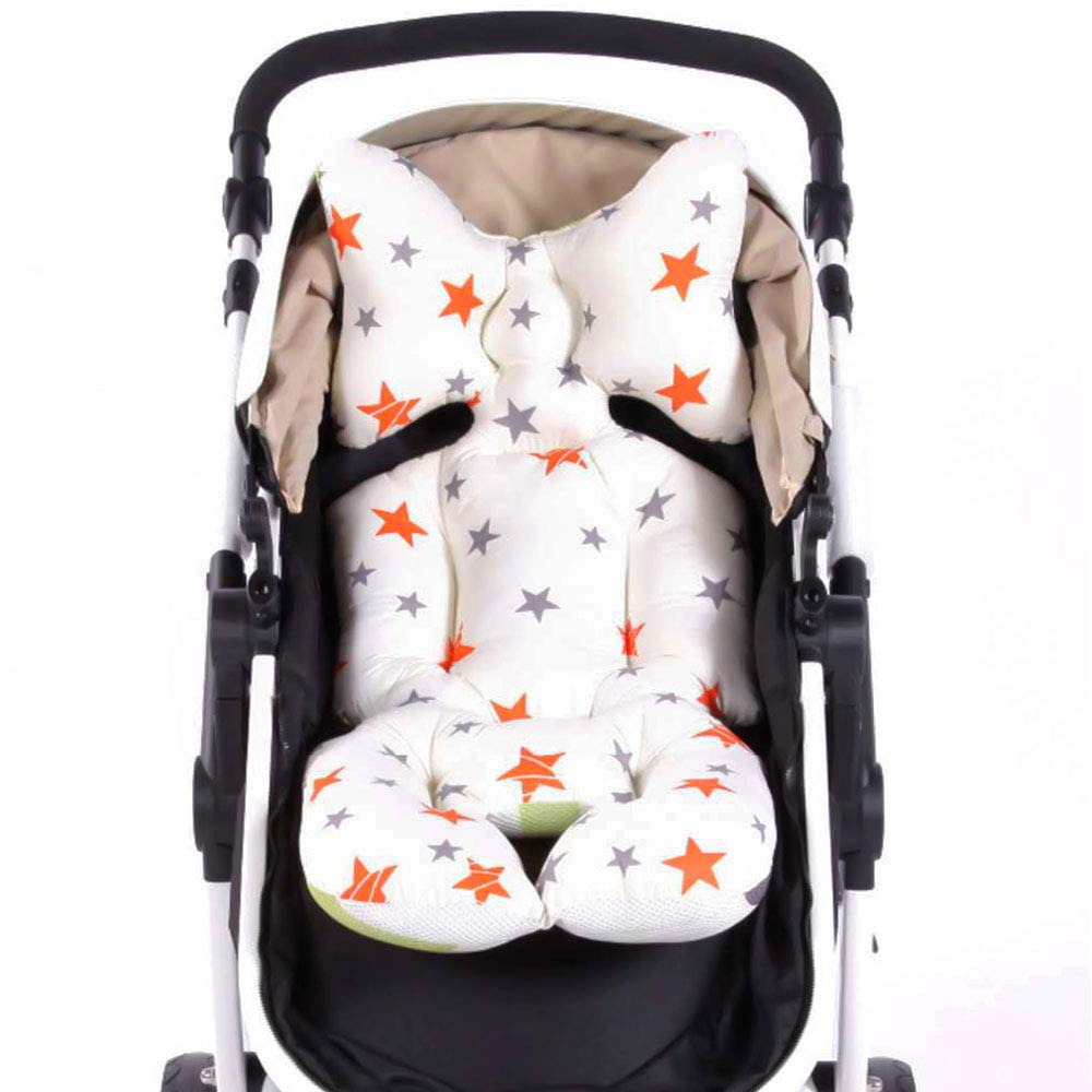 laamei Baby Stroller Cushion Pad, Cotton Breathable Stroller Car High Chair Seat Cushion Liner Mat Cover Protector for Baby Kid Toddler Infants