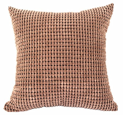 Multi size candy color corduroy throw pillow cover sham for Sofa cushion covers dubai