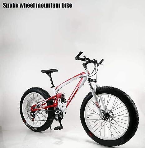 QZ Adulto Fat Tire Bicicleta todo terreno, motos de nieve, bicicletas de doble freno de disco