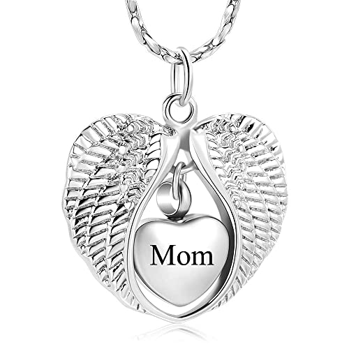 mingkejw Cremation Jewelry Paw Print Urn Necklace for Human Pet Ashes Keepsake Memorial Necklace Pendant Holder for Women Men