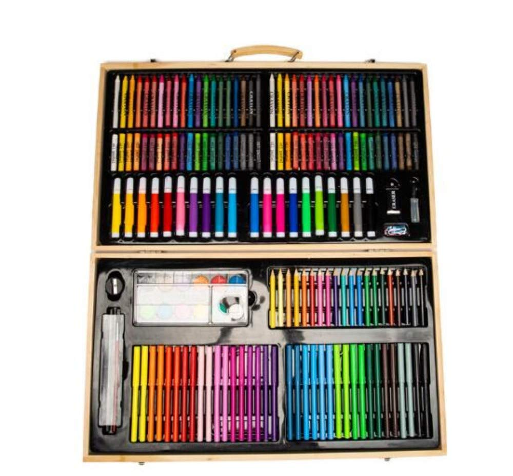 Kinder-Premium-Kunst-Set, Kinder-Premium-Kunst-Set, Kinder-Premium-Kunst-Set, 180 Kinder-Aquarell-Pinsel-Mal-Set, Primary School Art Learning Toolbox 470e59