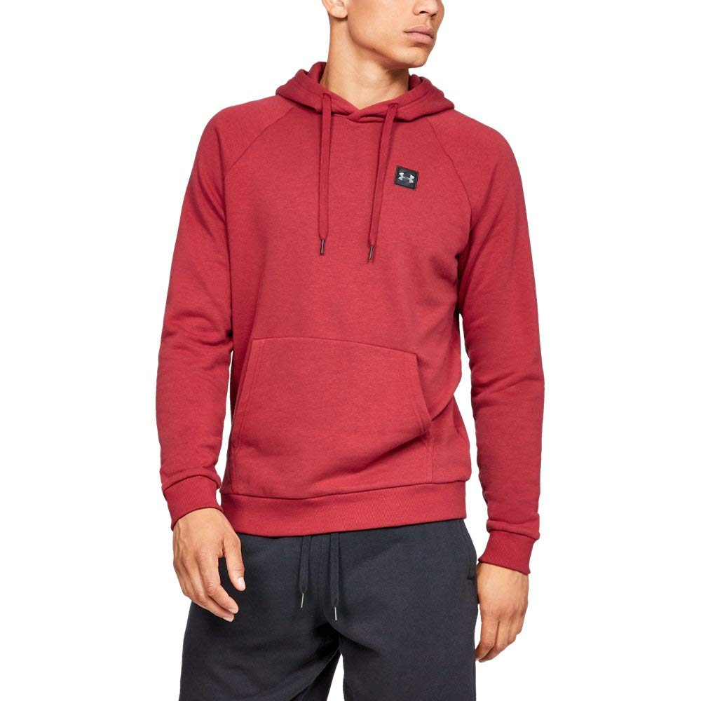 Under Armour Men's Rival Fleece Hoodie, Aruba Red (651)/Black, Small by Under Armour
