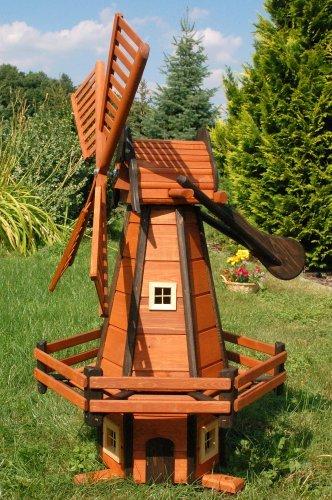 Windmühle Windmühlen Holzwindmühle holländischer Art 1,20 m imprägniert kugelgelagert