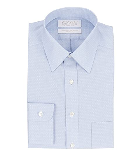 66fbdc54b99b Gold Label Roundtree & Yorke Non-Iron Stretch Slim Fit Point Collar ...