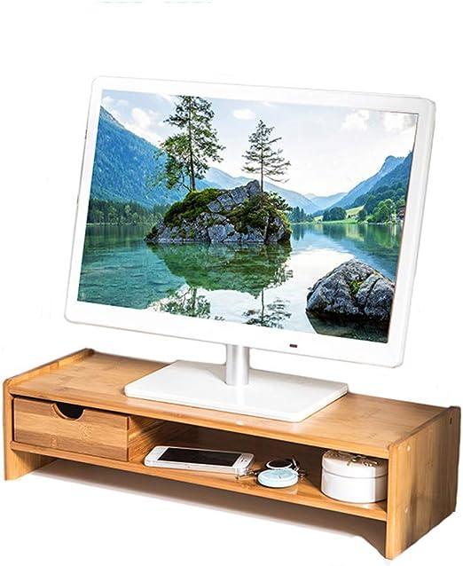 PIPIXIA Soportes de Monitor de bambú universales Altavoz TV PC ...