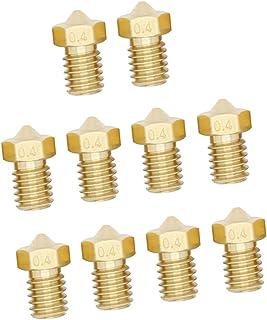 Sharplace 10x Extruder Düse Nozzle 3mm 3D Drucker Kopf Druckkopf - Gold 0,3mm