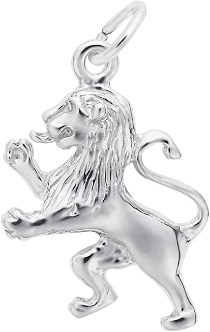 Sterling silver African Male Lion  charm vintage # 498