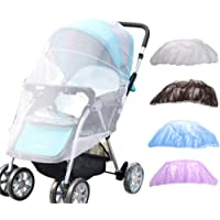 Joeyhome 150cm Baby Stroller Accessories Mosquito net Insect Shield Net Infants baby Pushchair Safe Protection Mesh (1 Pc, White)