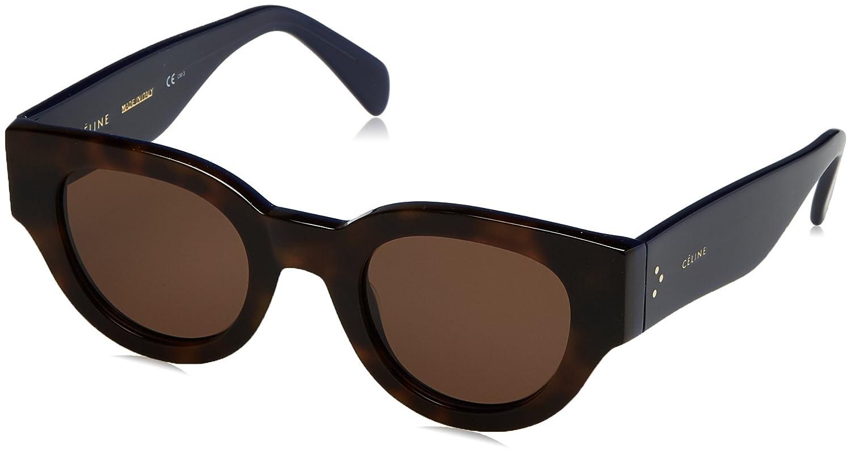 838f9d4b9416 Celine 41064S 6TW Havana and Navy Blue Bicolor Cats Eyes Sunglasses Lens  Catego  Amazon.co.uk  Clothing
