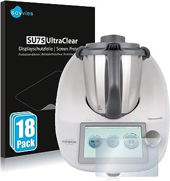 savvies Protector Pantalla Compatible con Vorwerk Thermomix TM6 (18 Unidades) Pelicula Ultra Transparente: Amazon.es: Electrónica