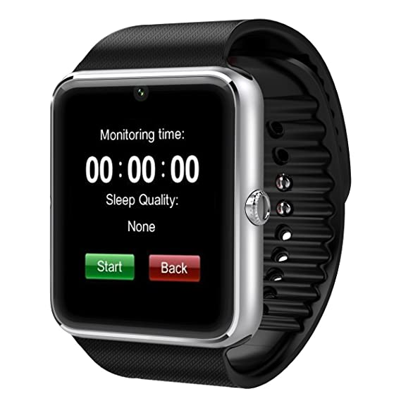 Amazon.com: NOKKOO GT08 Bluetooth Smart Watch with Camera ...