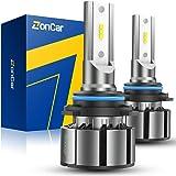 ZonCar 9005 / HB3 LED Headlight Bulbs, High Beam Halogen Replacement, 2 Pcs/Kit, 12 CSP Chips, 6500K Xenon White…