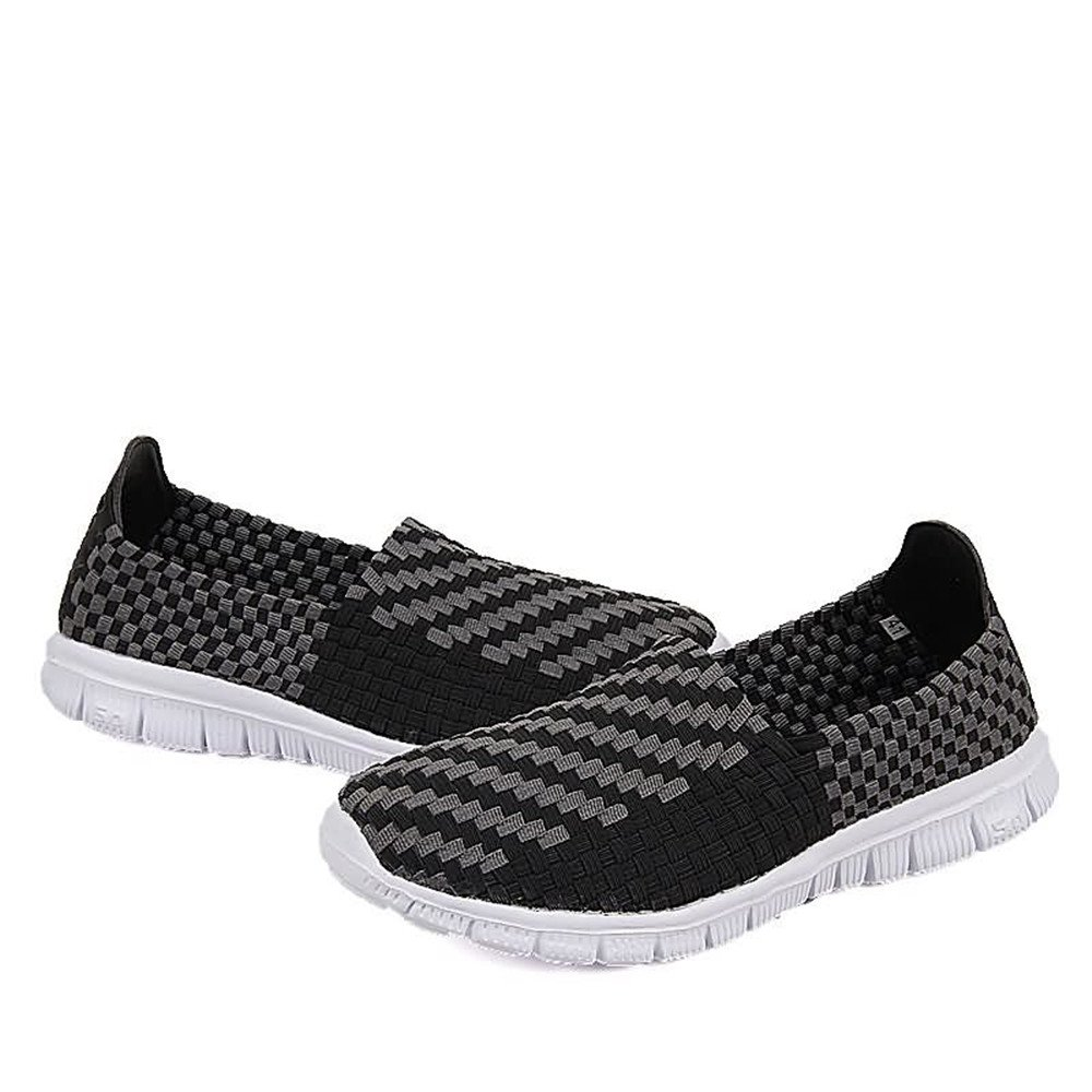 Mens Shoes Women and Mens Athletic Shoes Grid Pattern Slip On Splice Vamp Leisure Fashion Sneaker Fashion