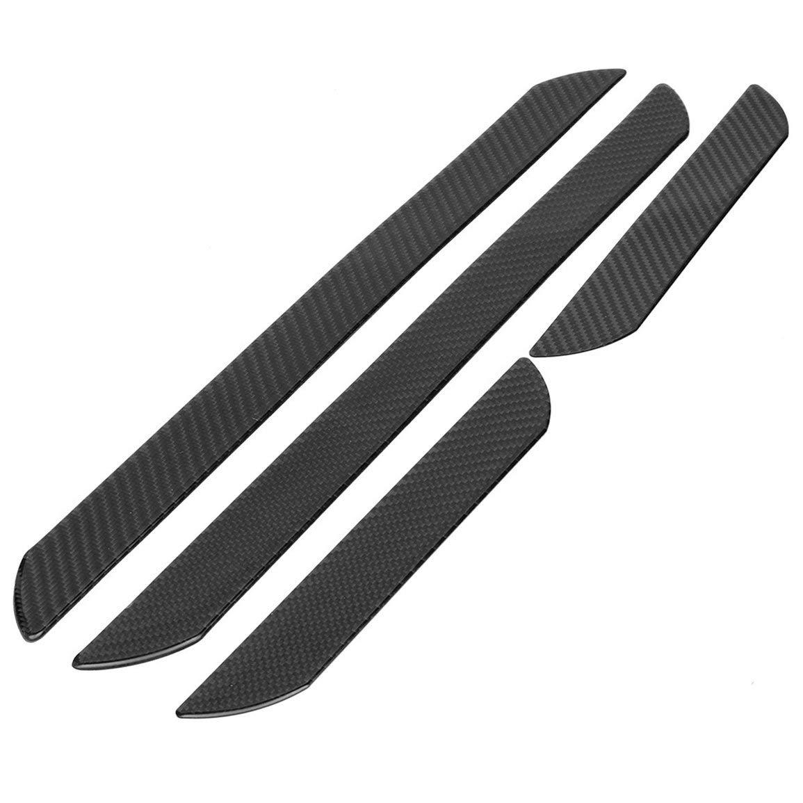 4pcs Set Carbon Faser Auto T/ür Verschleiss Sill Abdeckblech Panel Schritt Schutz Aufkleber Auto Willkommen Pedal Innen
