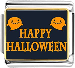 Chicforest Gold Plated Happy Halloween ghost Bracelet Link Photo Italian Charms