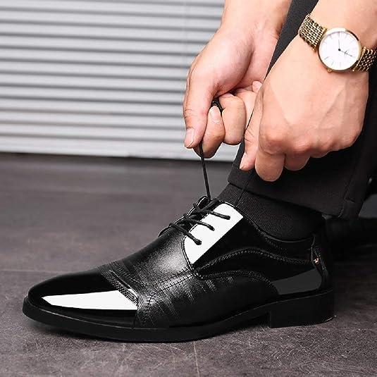 Amazon.com | Mens Business Shoes Dress, Patent Leather ...