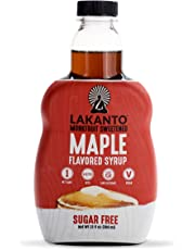Lakanto Maple Flavored Sugar-Free Syrup (Monk Fruit Sweetened, 384g