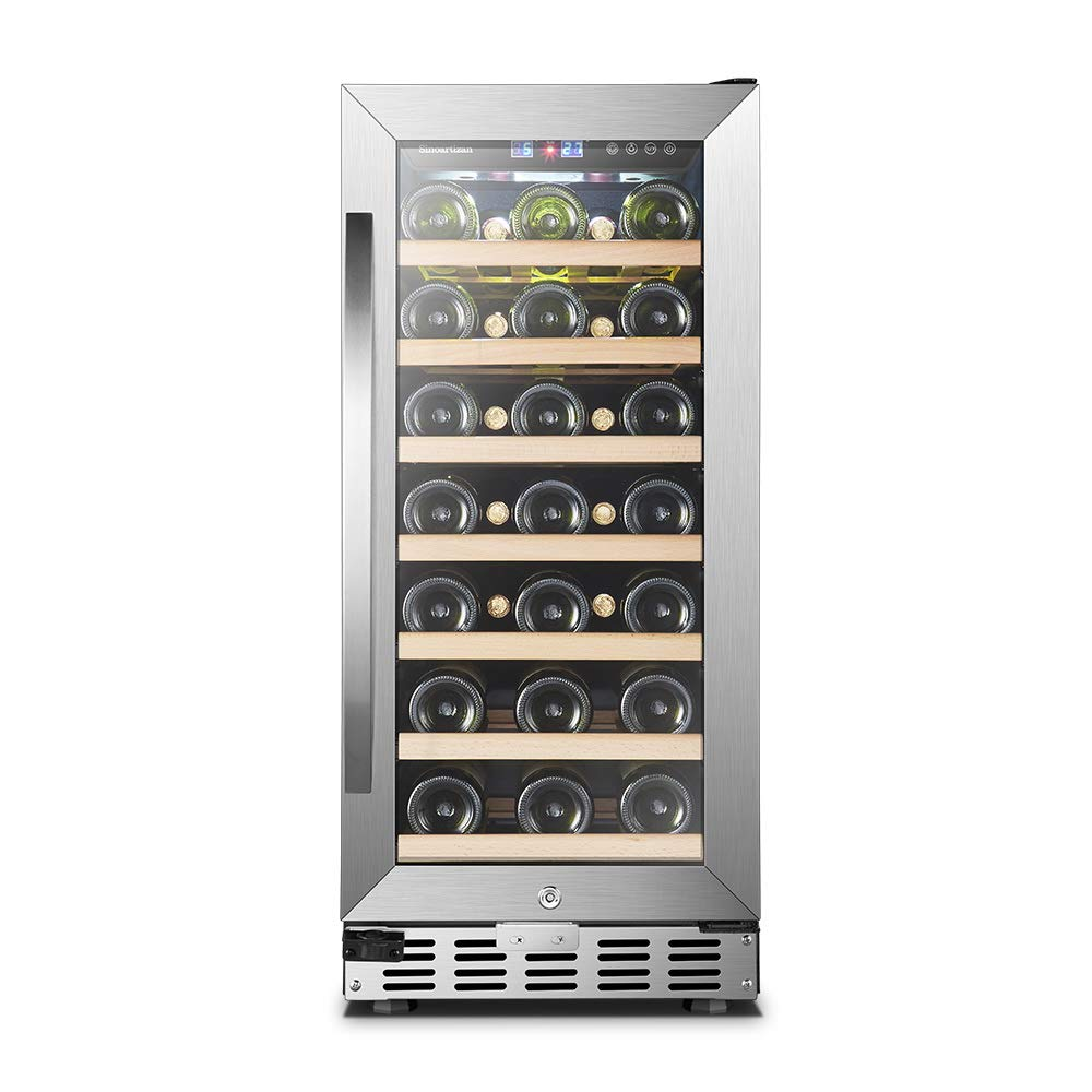 33 Bottle Single Zone, Sinoartizan Compressor Wine Cooler Fridge
