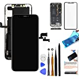 for iPhone X Screen Replacement OLED 5.8 inch [NOT LCD] Touch Screen Display Digitizer Repair Kit Assembly with Complete Repa