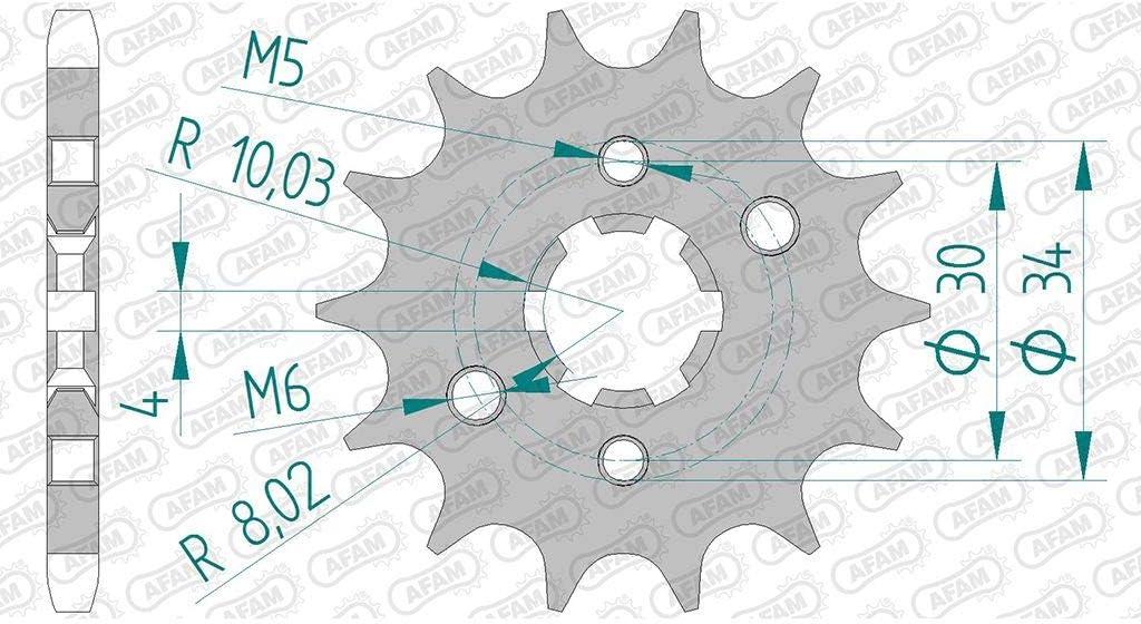 Kettensatz DID 428D passend f/ür RR 125 Enduro LC CBS 4T 2017-2019