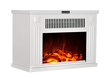 Amazon Com Gmhome 14 Mini Electric Fireplace Tabletop Space Heater