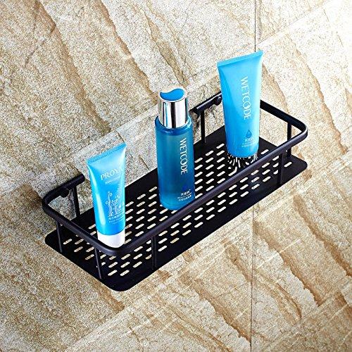 ETmla American copper material black bronze surface rectangular plate basket bathroom shelf