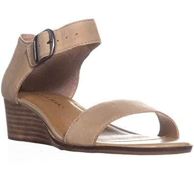 3f553f0faf Amazon.com | Lucky Brand Womens Riamsee Ankle Strap Wedges | Sandals