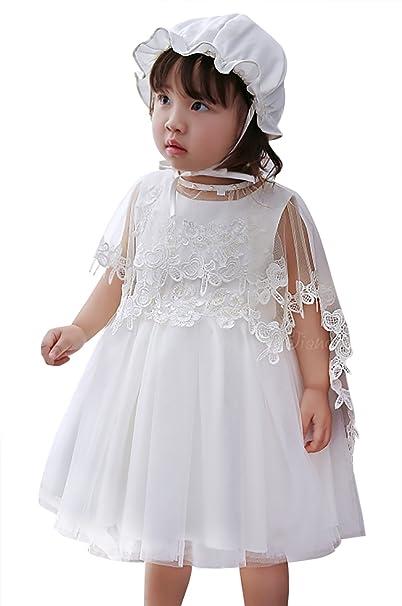 Happy Cherry - Vestido Tul para Bebés Niñas de Fiesta Party Floral Traje de Ceremonia para