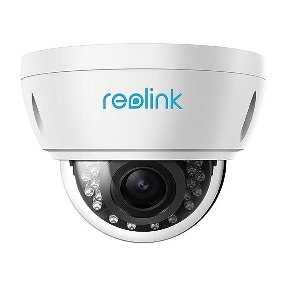 Reolink Caméra IP PoE 5MP 4X Zoom Optique IP66 Étanche Extérieur Dôme avec Fente pour Carte Micro SD pour la détection de Mouvement Vision Nocturne Vidéo Surveillance RLC-422-5MP(No Pan&Tilt)